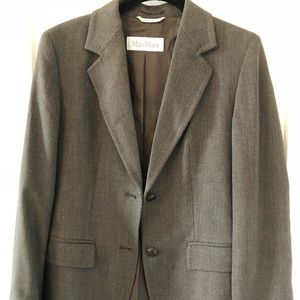 MaxMara wool gray blazer Size 2 Perfect condition
